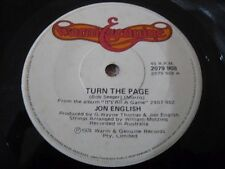 Jon English Vinyl 45 Turn The Page Warm & Genuine 2079908 1974