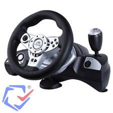 Volante de carreras PC/PS/PS2/PS3/USB Con pedales Feedback Racing Wheel Windows