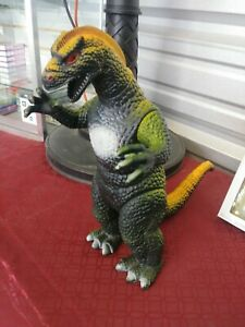 Vintage 1997 Dor Mei Godzilla Poseable Toy Action Figure Hong Kong Red Eyes