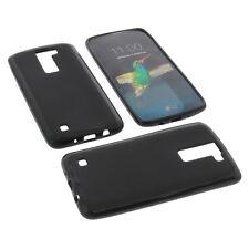 Funda para LG K8 Funda protectora de móvil TPU GOMA FUNDA NEGRA