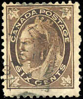 1897 Used Canada 6c F Scott #71 Queen Victoria Maple Leaf Stamp