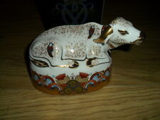 ROYAL CROWN DERBY WATER BUFFALO PAPERWEIGHT, 2,ND,QUALITY, BOXED
