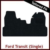 FORD TRANSIT 2006-2013 Single Passenger Seat Tailored Carpet Car Mat BLACK