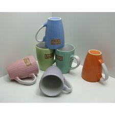 Kaffeebecher SET 6 Stck. á 0,15 L verschiedene Farben, Tasse, Pott, Keramik