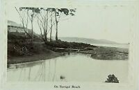 .TERRIGAL BEACH, NEW SOUTH WALES RARE EARLY 1900'S POSTCARD.