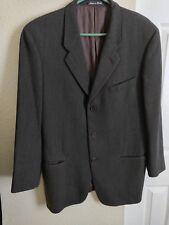 Giorgio Armani Men's Black WOOL Blazer Sports Coat Suit Jacket 40R