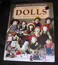 Vtg 1984 Hardcover Better Homes Garden Craft Book Cherished Dolls Make For Fun
