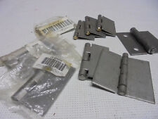 "10 Lot Odd Grainger & Other Mix Lot 3"" x 3"" Steel Weld On Surface Hinges"