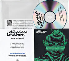 THE CHEMICAL BROTHERS ANOTHER WORLD RARE 4 TRACK PROMO CD [LINDSTROM / POPOFF]