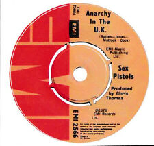 SEX PISTOLS VINYL STICKER 1977 ANARCHY IN THE UK SINGLE RECORD ENGLISH PUNK ROCK