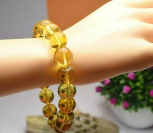 Amber Bracelet Beads Natural Stone Gem Authentic Dominican 12.64 mm (20.3 G)A920