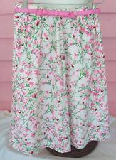 BAR HARBOR Skirt Preppy Vintage A-Line Great Belt Floral/Ladybug Print Fits 6-8