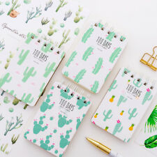 """Cactus Friend"" 1pc Pocket Diary Small Notebook Memo Journal Coil Spiral Cute"