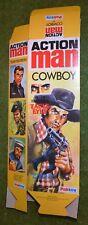 Vintage Action Man 40th Boîte vide pour cow-boy (sans poupée) Flat Pack