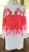 Nextmia Fashion Size 16 Women's Santa Clause Christmas Holiday Sweater Dress AI