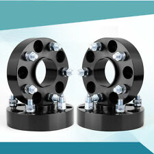 """(4)1.5"""" Black Wheel Spacers 5x5 to 5x5 For Jeep Wrangler JK Rubicon HubCentric"""