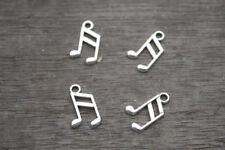 60pcs Music note Charms Silver Tone Treble Clef charm pendants musical 8x14mm