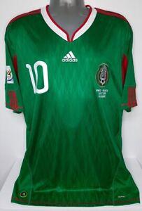 ADIDAS MEXICO WC2010 CUAUHTEMOC BLANCO XL ORIGINAL FOOTBALL JERSEY SHIRT