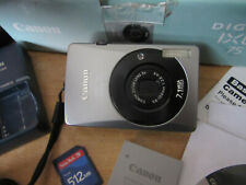 Canon IXUS 75 7.1MP Digital Camera - Silver/BLACK V.G.C.