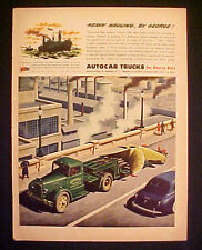 1945 WWII AutoCar~Auto Car Trucks George Transfer Rigging Co Ship Trade Paper Ad