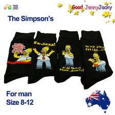 New arrival! The Simpsons Cute Men Cotton Socks Size 8-12