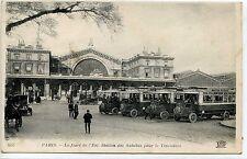 CP 75 PARIS - La Gare de l'Est - Station des Autobus pour le Trocadéro