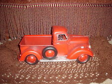 VINTAGE LOOKING (RUSTIC METAL RED 1940'S? FORD/CHEVY?) - PICKUP TRUCK DECOR
