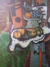"""Braque's  """"Nature Morte a La Table de Marbre"""" Still Life Painting Vintage Print"""