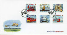Guernsey 2016 FDC Postal History 500 Yrs 6v Cover Royal Mail Ships Trucks Stamps