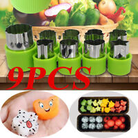 Vegetable Cutter Shapes Set,Mini Pie,Fruit and Cookie Stamps Mold,Green,9 Pcs