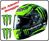 Casco integrale moto Hjc Rpha 11 Crutchlow adesivi monster energy Kawasaki