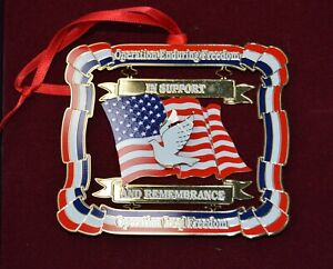 OIF OEF Military Christmas Ornament Operation Enduring Freedom In Support
