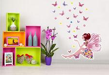 Wandsticker Wandtattoo Kinderzimmer Petunia Wunderpracht Schmetterlinge Feen