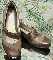 SPRING STEP BROWN LEATHER MARY JANE LOAFERS SLIP ONS SHOES US WOMENS SZ 9 EU 40