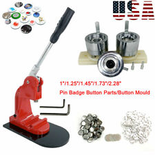 "1"" 2.28"" Button Maker Badge Punch Press Machine Die Mould Pin Badge Button Parts"