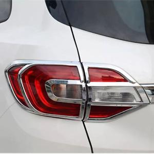 For Ford Everest 2015-2020 Chrome Rear Tail Light Lamp Sticker Cover Trim 4pcs