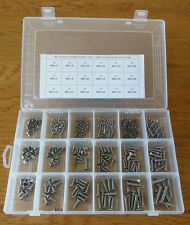 300PC M3 M4 M5 STAINLESS STEEL ASSORTED ALLEN SOCKET COUNTERSUNK SCREWS IN BOX