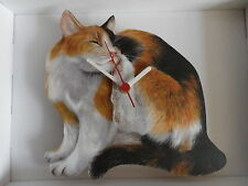 Tortoiseshell Cat Wall Clock. New & Boxed
