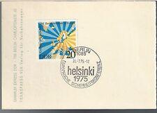1975 Berlin Germany FDC PC Helsinki 1975 Scott 1669