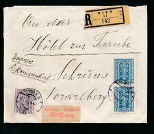 AUSTRIA 1924 REGISTERED EXPRESS DELIVERY 1000K + 2 x 2000K FRANKING