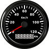 85mm GPS Speedometer Stainless Waterproof Gauge 120KM/H Speed for Car Truck 12V