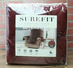 Sure Fit Recliner Plush Comfort Waterproof Furniture Cover SUREFIT WINE red