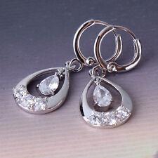 Alluring gift women white gold filled white topaz  smart dangle earring
