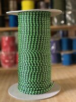 """1/4"""" x 440 ft. Spool of 8 Strand Hollow Braid Polyethylene Rope. Lime And Black"""