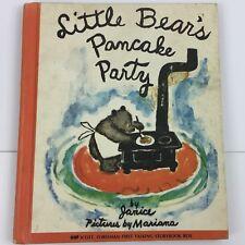 Little Bear's Pancake Party Vintage Book Children's Child's Boy Girl 1960s 60s