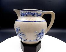 "GES GESCH GERMANY ART POTTERY #B3B BLUE AND GRAY 5 5/8"" PITCHER"