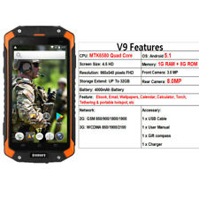 "32G Android 3G Rugged Smartphone Quad Core 1G+8GB Unlocked 4.5""Cell Phone Yellow"
