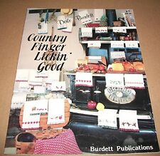 COUNTED CROSS STITCH PATTERN LEAFLET DALE BURDETT COUNTRY FINGER LICKIN' GOOD