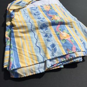 Fiesta Twin Size Bedskirt Croscill Yellow Blue Floral