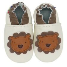 carozoo lion cream new 3-4y soft sole leather toddler shoes